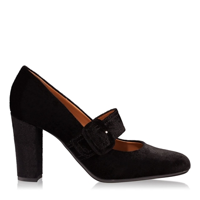 Pantofi dama negri 4345 catifea