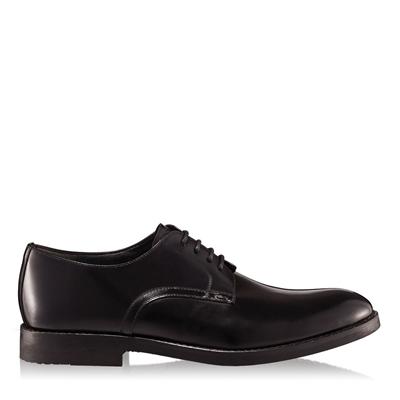 Pantofi barbati 2959 piele abrazivata neagra