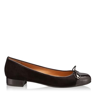 Pantofi Casual 4058 Camoscio+Vernice Negru