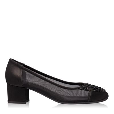Imagine Pantofi Eleganti Dama 4627 Saten+Rete Nero