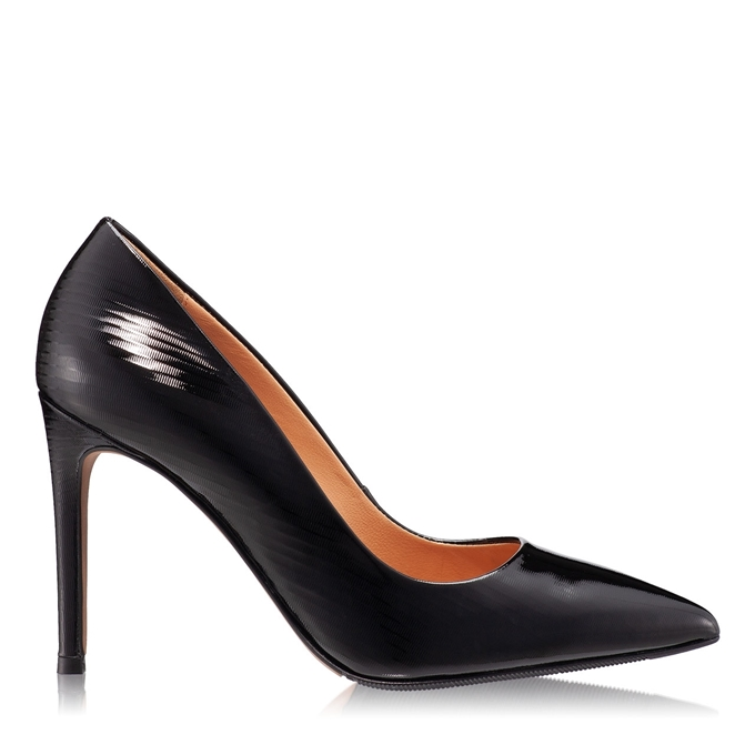 Imagine Pantofi Eleganti Dama 4332 Lac Negru Stamp