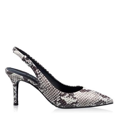 Imagine Pantofi Decupati Dama 5728 Pitone Bianco